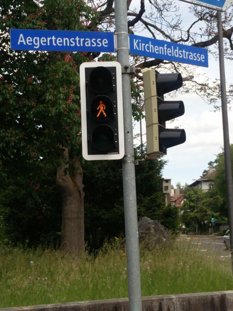 orange light pedestrian