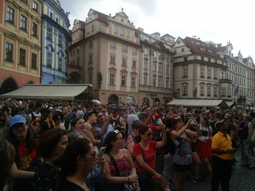 prague astronomical clock people