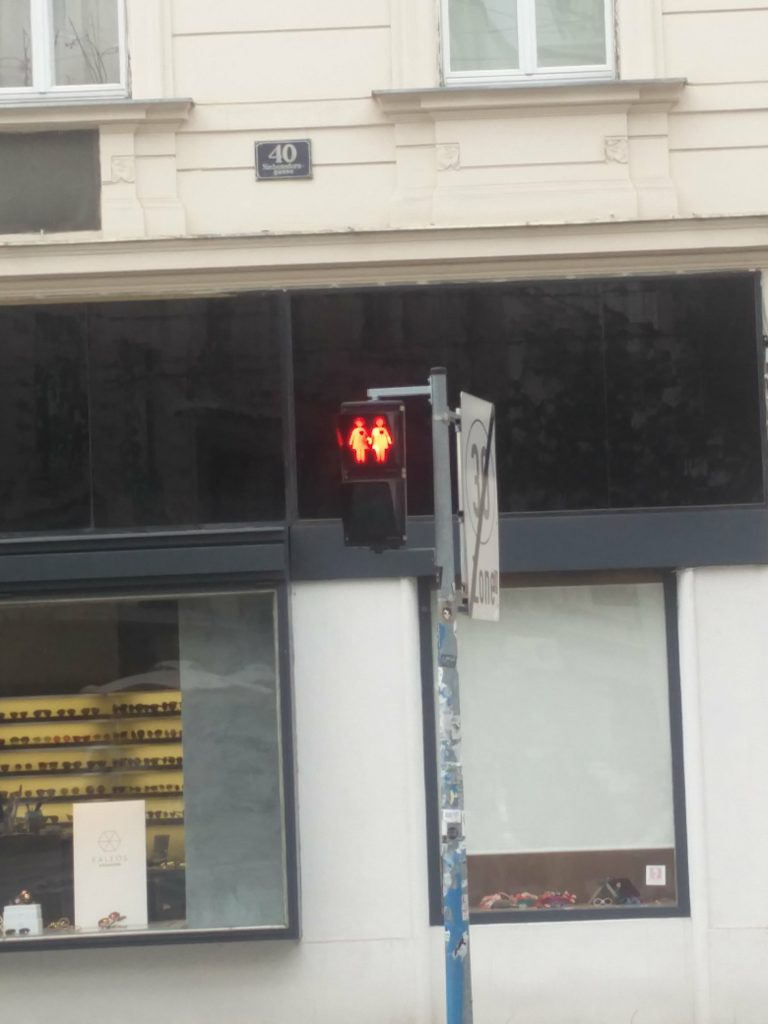 pedestrian red lights vienna austria