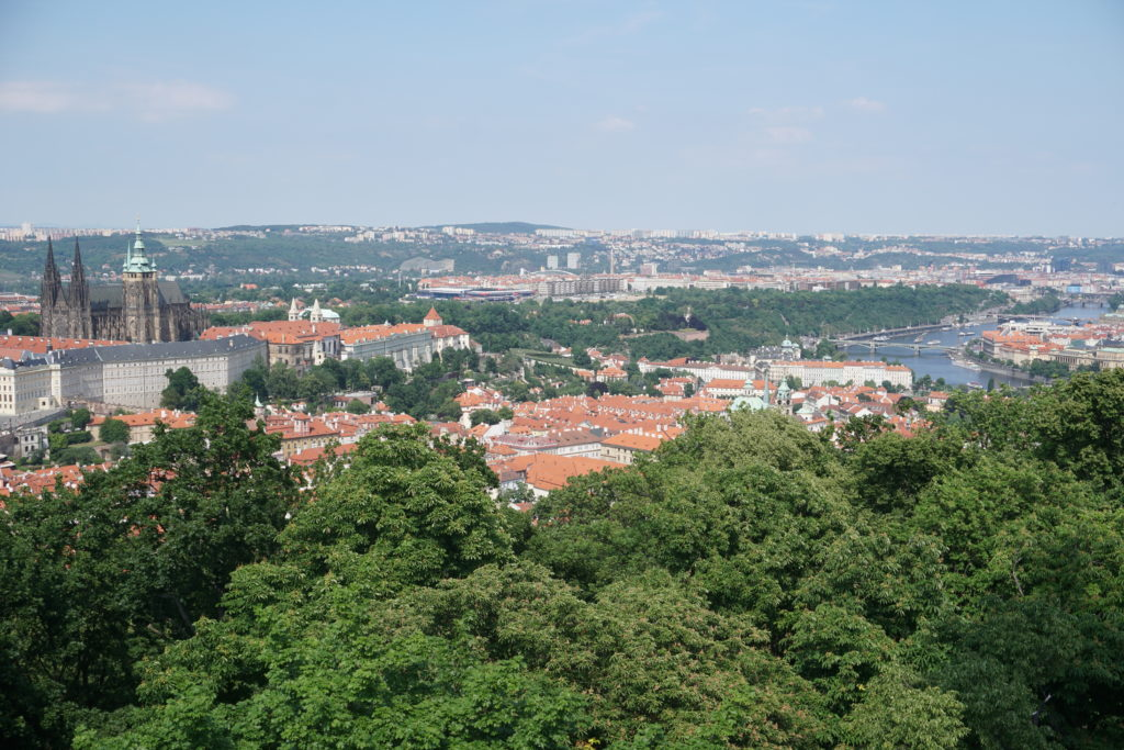 prague petrin lookout tower view