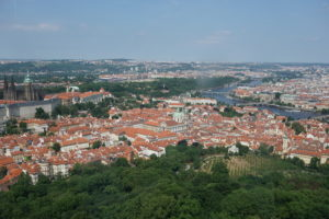 prague vue haut petrin hill