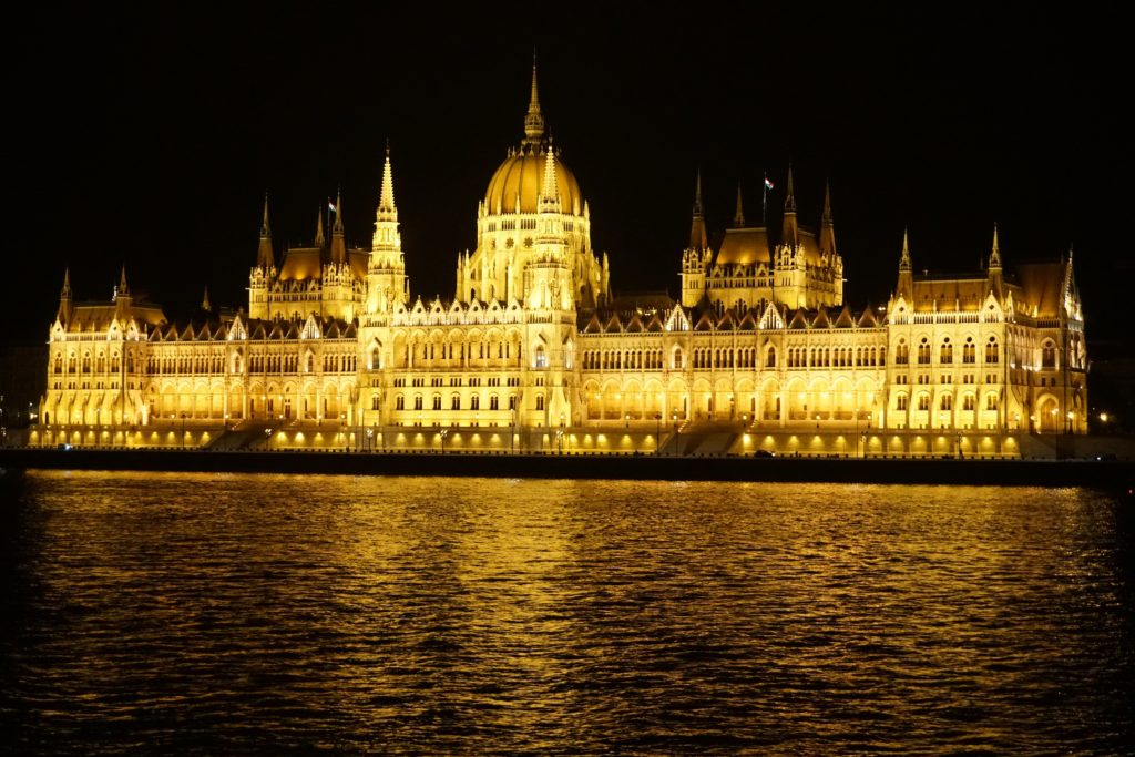 hungarian parliament building night