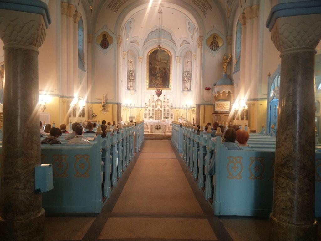 inside blue church bratislava