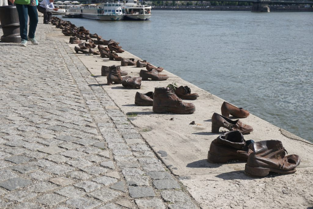 shoes danube bank budapest