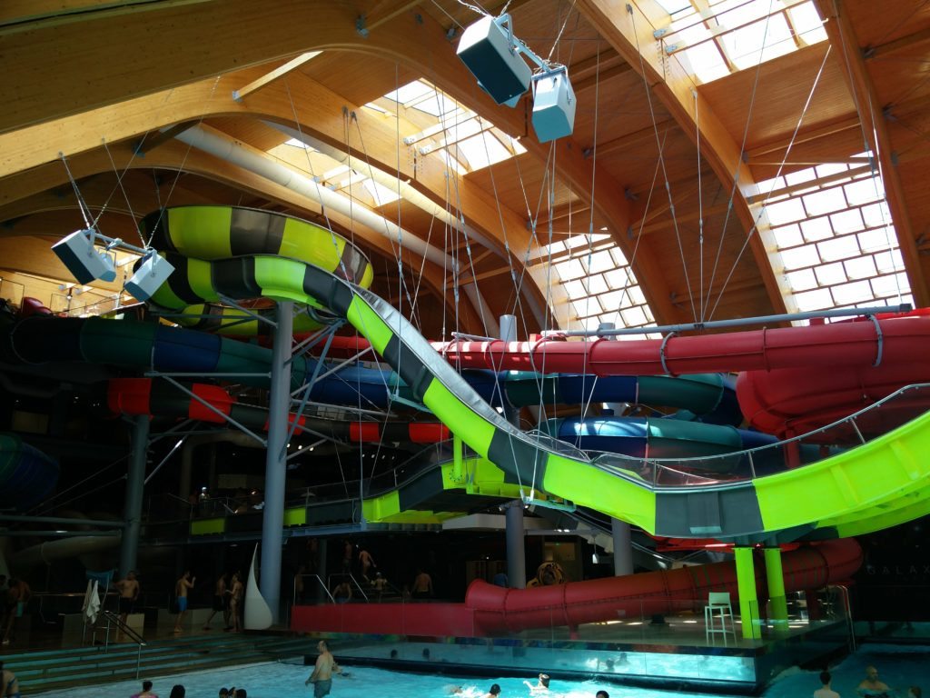 therme bucuresti waterslide galaxy