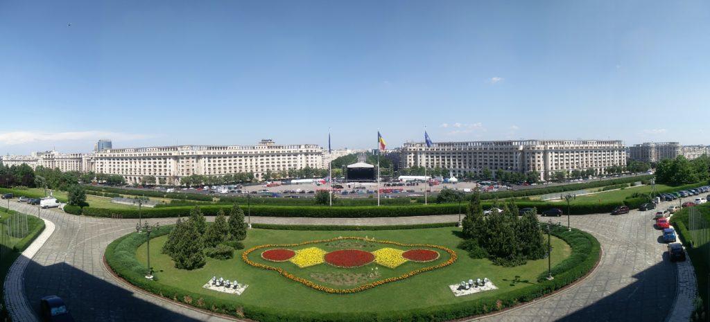 balcon palais du parlement bucarest