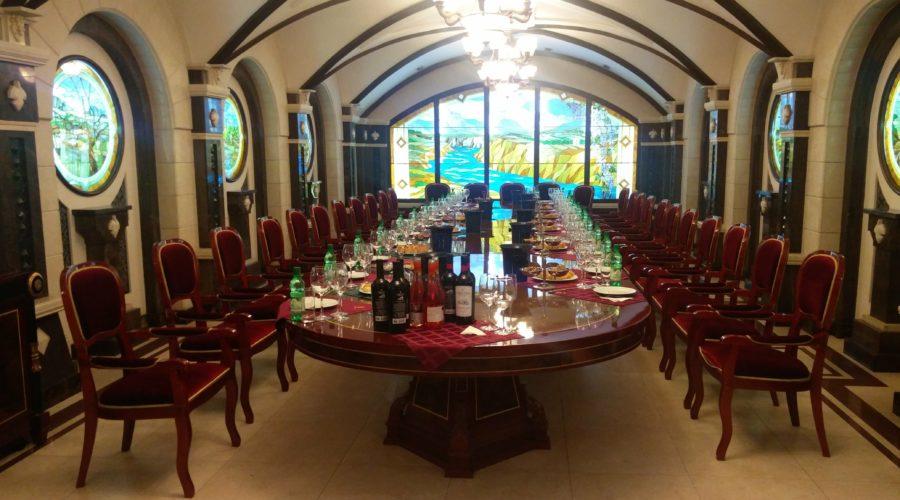Dégustation de vins à Cricova en Moldavie