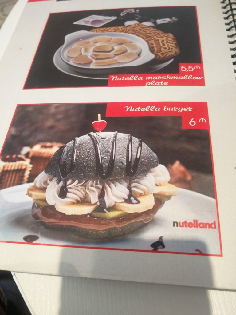 nutella burger nutelland bakou