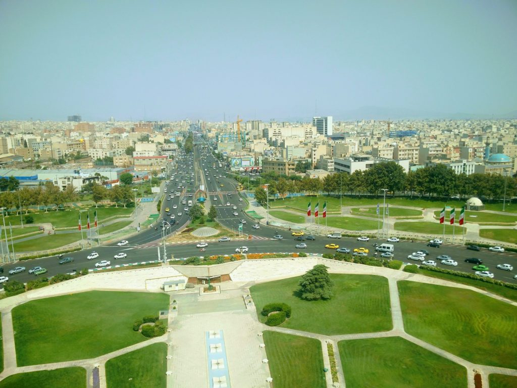 azadi tower view from top