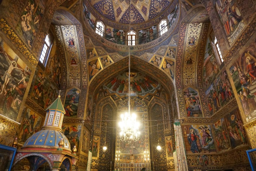 cathedrale de vank interieur ispahan