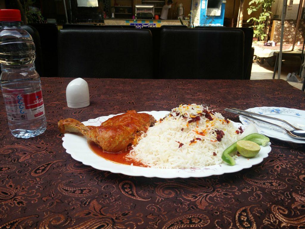 riz poulet iran