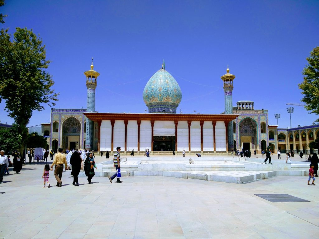 shah cheragh shiraz traveling while black