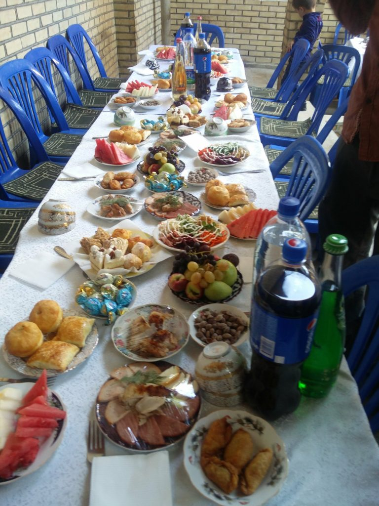 buffet uzbekistan central asia