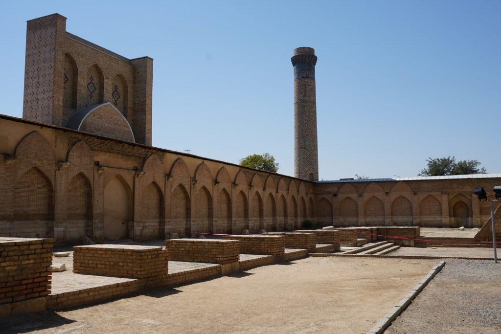 inside bibi khanym mosque samarkand