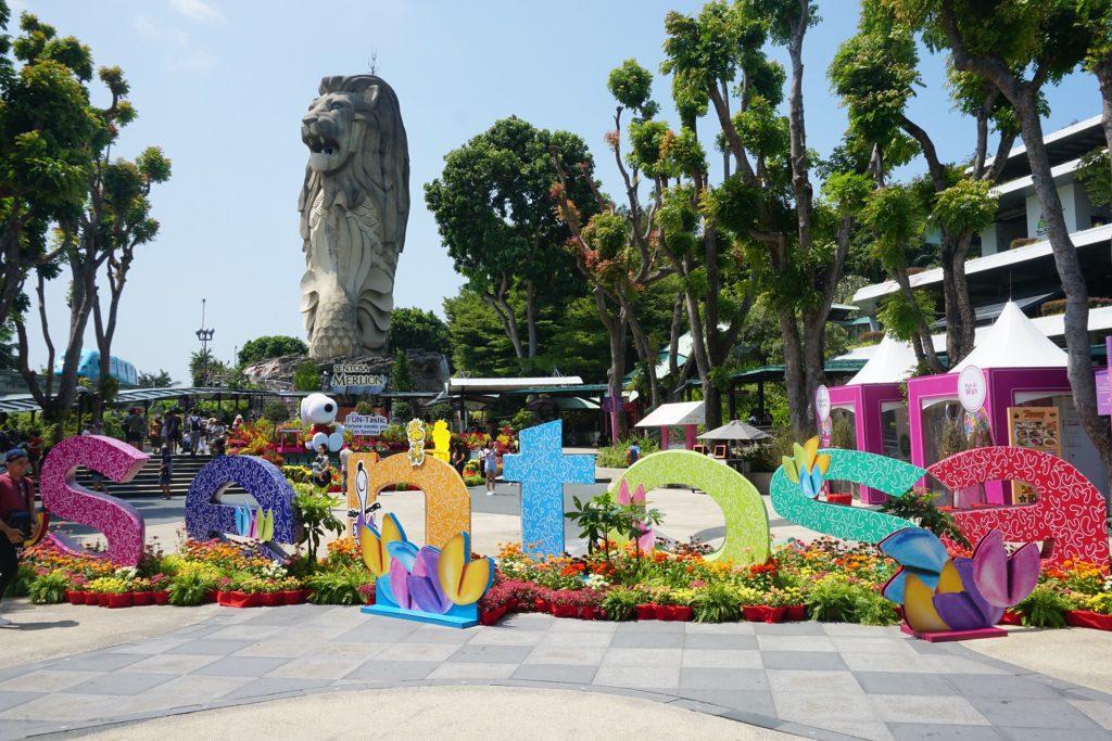 merlion sentosa singapour