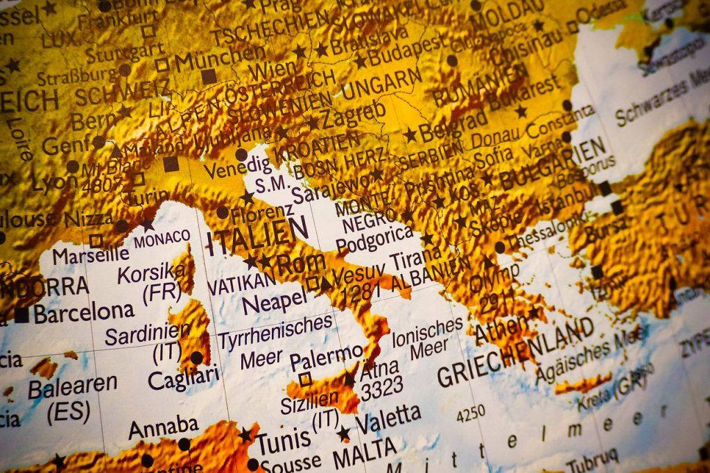 map italy coronavirus
