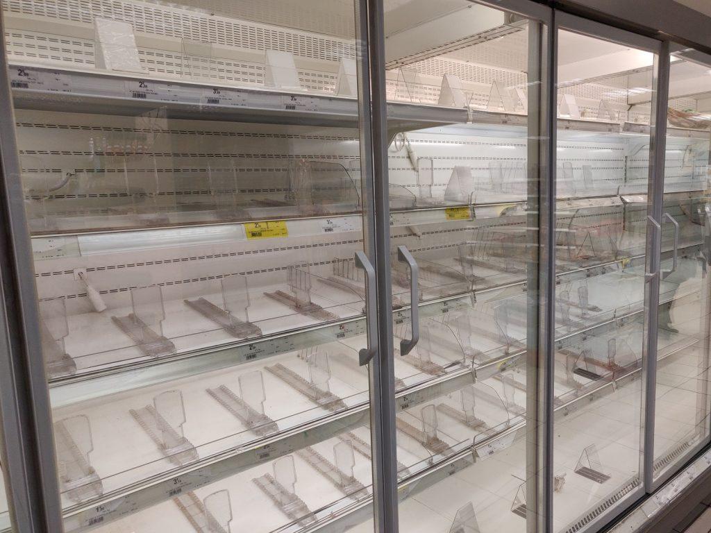 empty shelves coronavirus