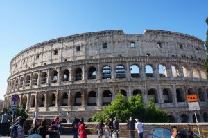 in front of the colosseum rome